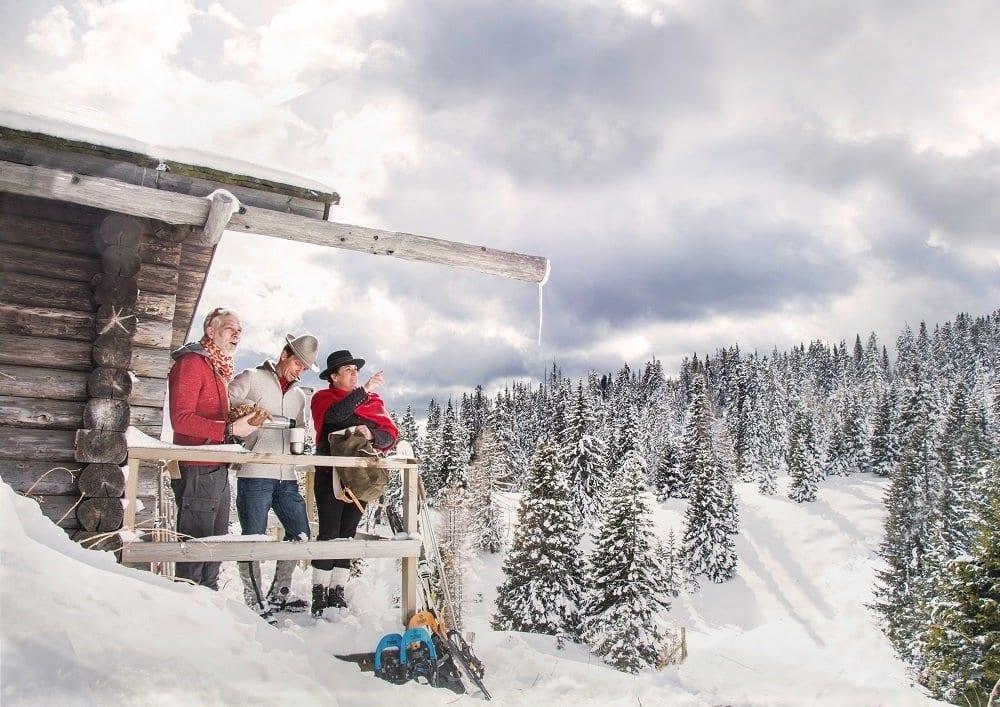 Naturelhotel Dorf Schönleitn Winter Wandern Pause