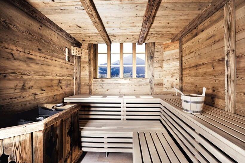 Hotel Walchseer Hof Finnische Sauna Bergblick