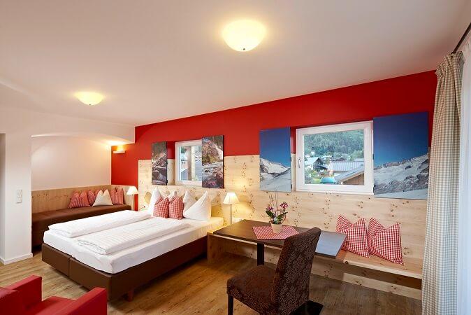 Doppelzimmer im Steiger Zirbenhotel****