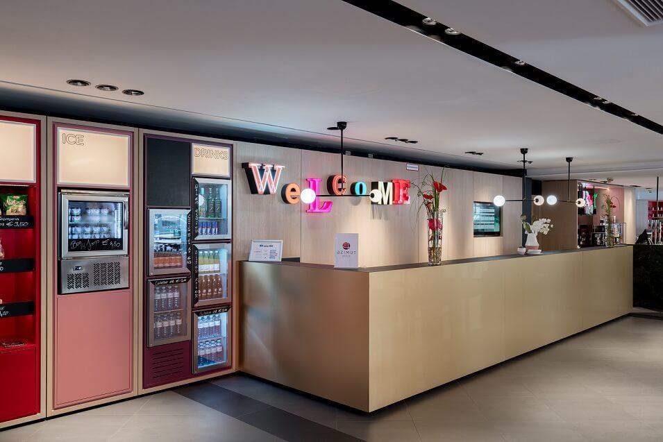 Lounge im Azimut HOtel Vienna