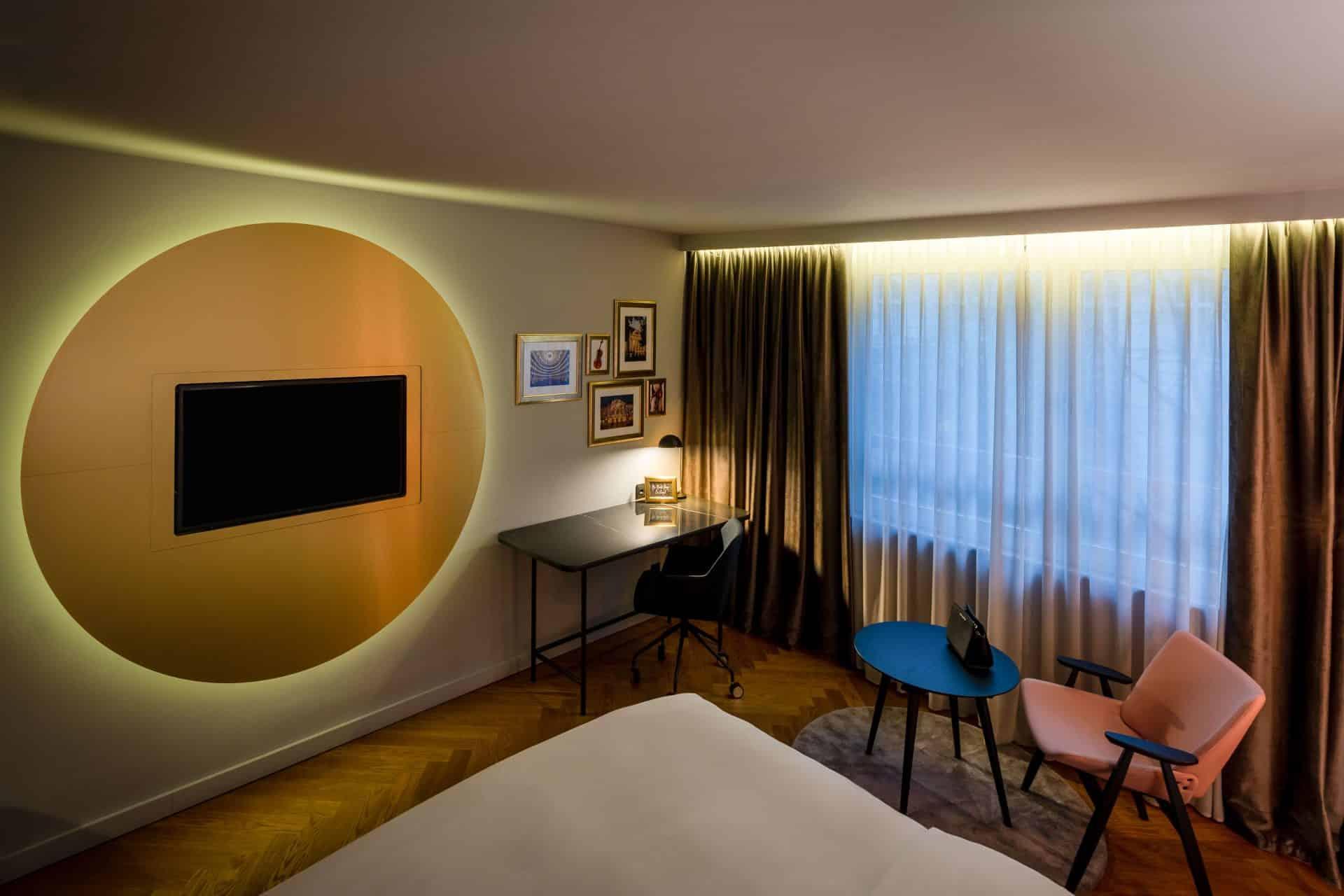 Modern ausgestattete Zimmer im Hotel am Konzerthaus Vienna  (c) Fabian Wenninger