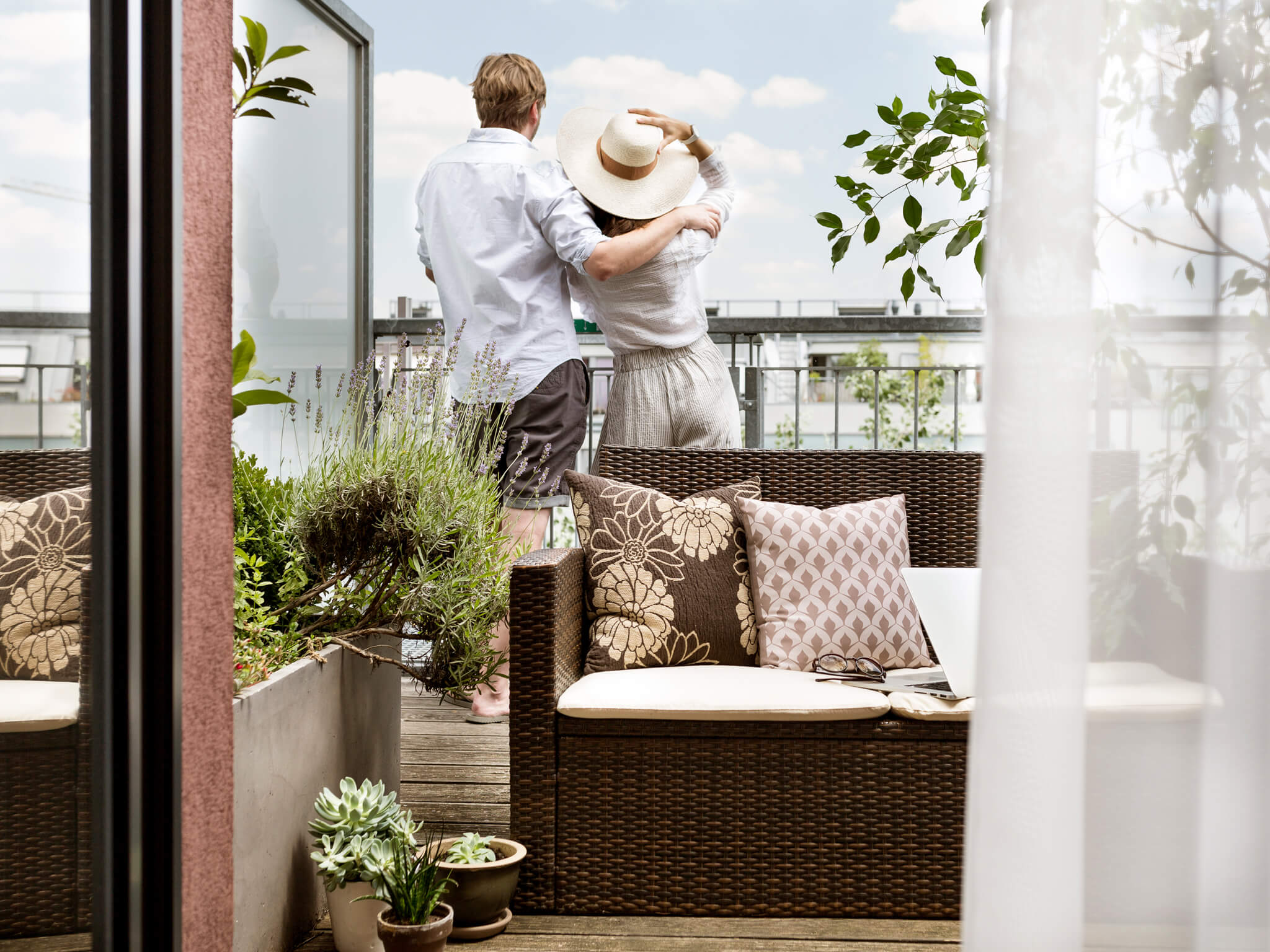 Boutiquehotel Stadthalle Junior Suite mit Terrasse Umarmung mit Aussicht