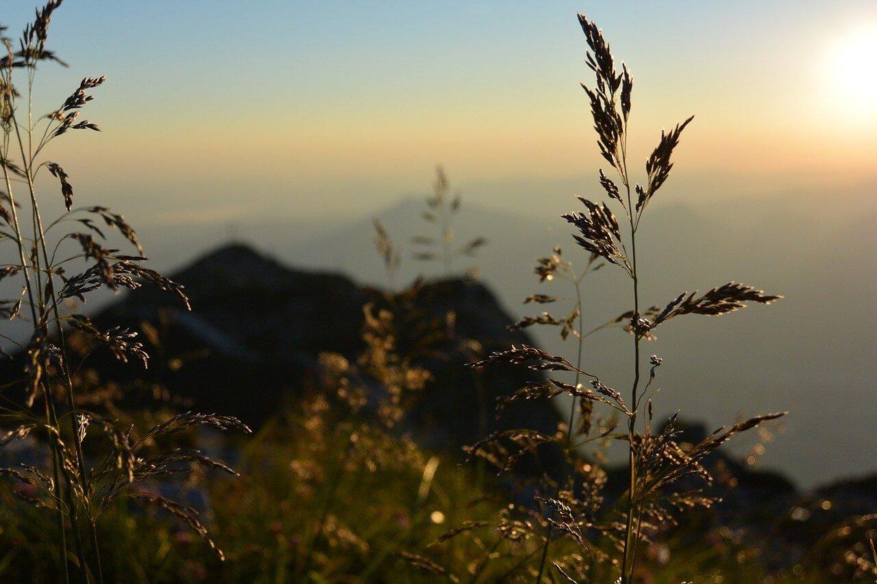 Sonnenaufgang in den Salzburger Bergen