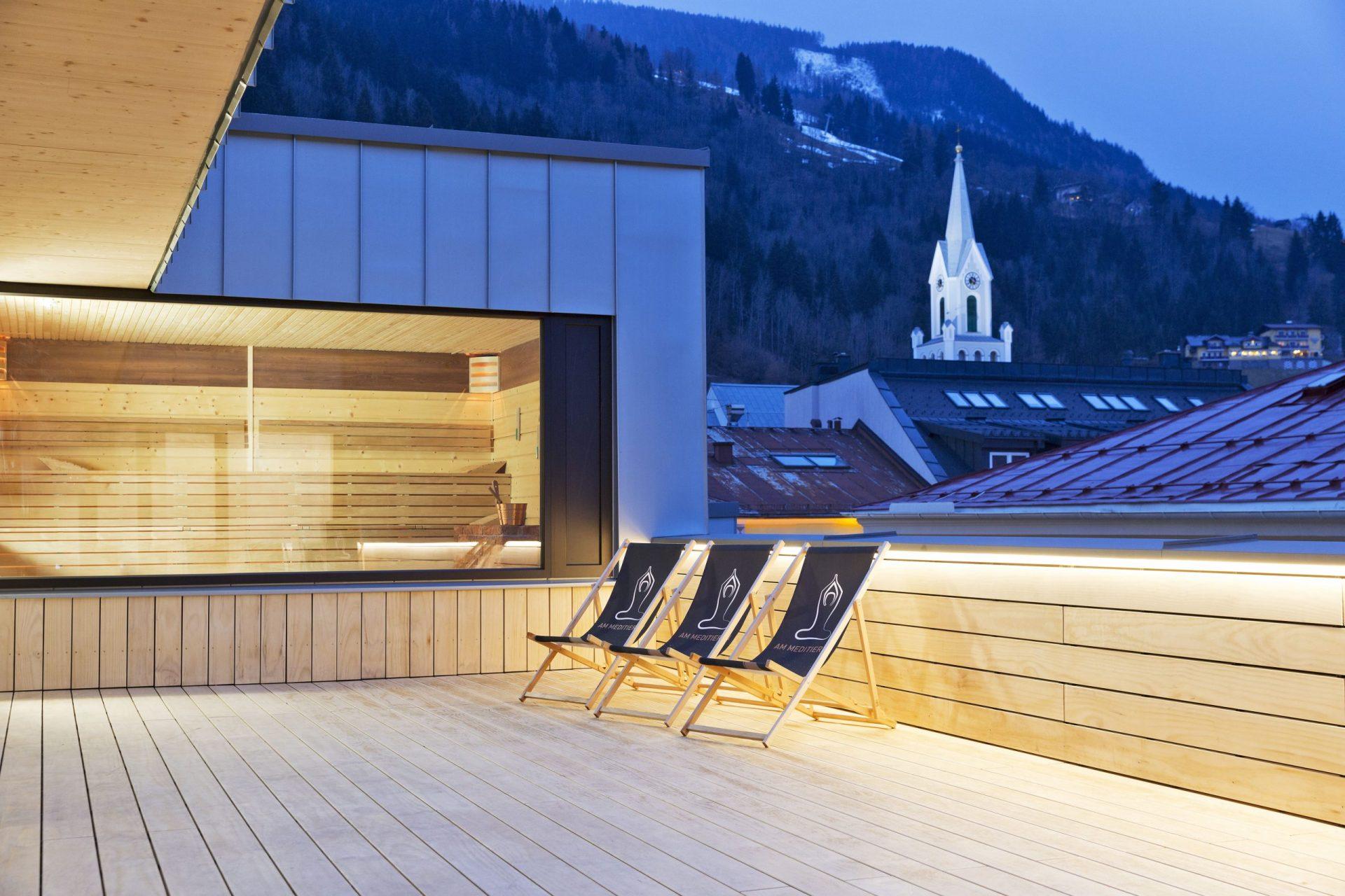 Hotel Brunner Sauna Terrasse
