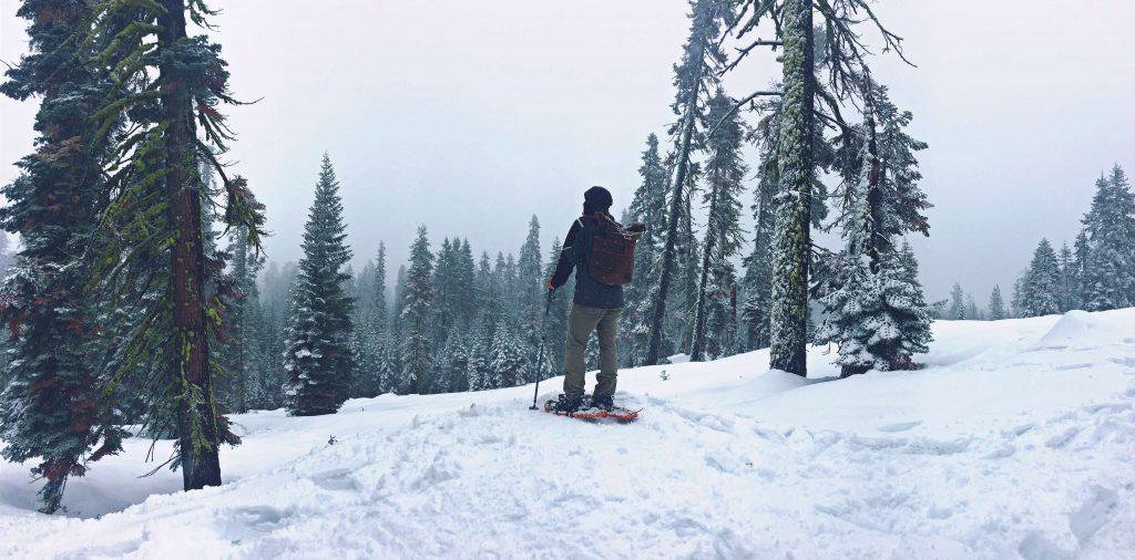Schneeschuh Wandern im Winter