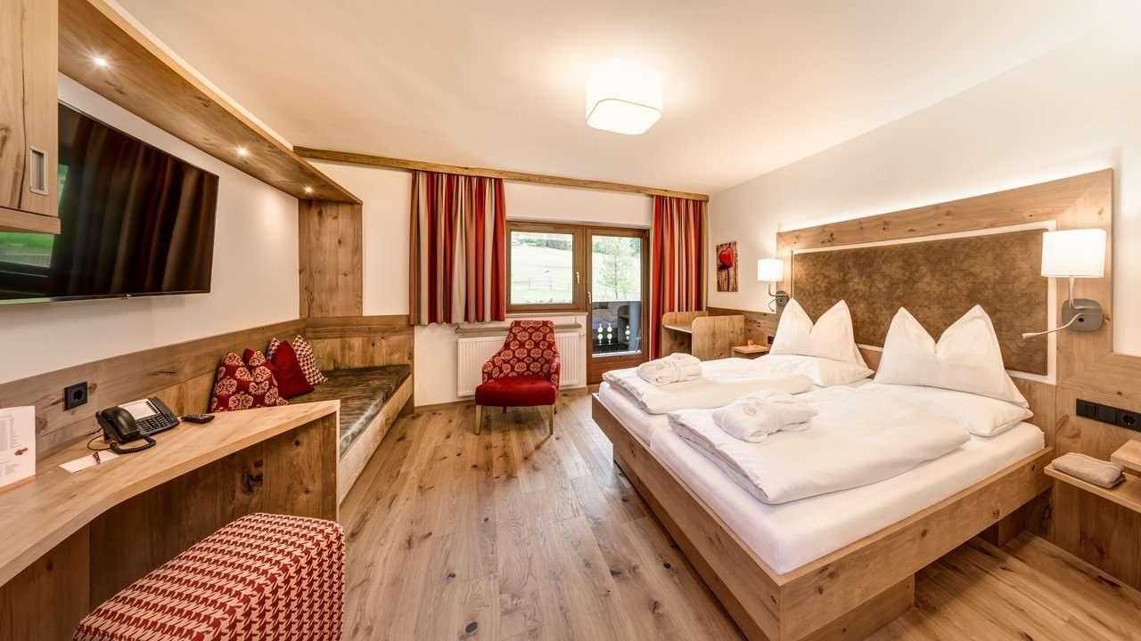 Duett-Wohn-Schlafzimmer-Umweltzeichen Hotel Die Seitenalm